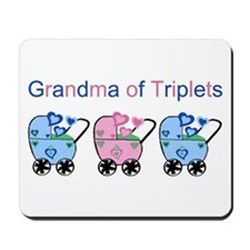 Grandma of Triplets (Boys & Girl) Mousepad