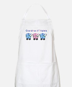Grandma of Triplets (Boys & Girl) BBQ Apron