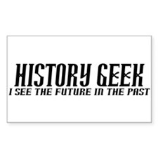 History Geek Future in Past Decal