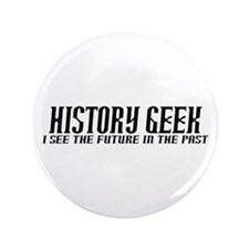 "History Geek Future in Past 3.5"" Button"