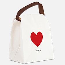 Nola Big Heart Canvas Lunch Bag