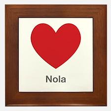 Nola Big Heart Framed Tile