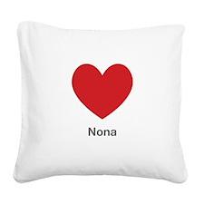 Nona Big Heart Square Canvas Pillow