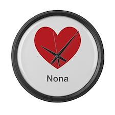 Nona Big Heart Large Wall Clock