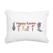 Happy Easter Christians Rectangular Canvas Pillow