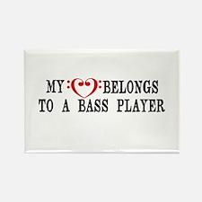 My Heart Belongs to a Bass Player Rectangle Magnet