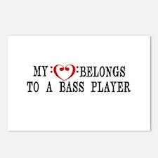 My Heart Belongs to a Bass Player Postcards (Packa