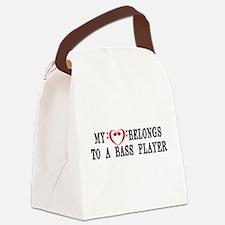 My Heart Belongs to a Bass Player Canvas Lunch Bag