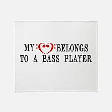 My Heart Belongs to a Bass Player Throw Blanket