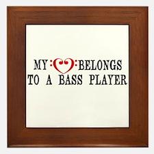 My Heart Belongs to a Bass Player Framed Tile
