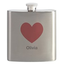 Olivia Big Heart Flask