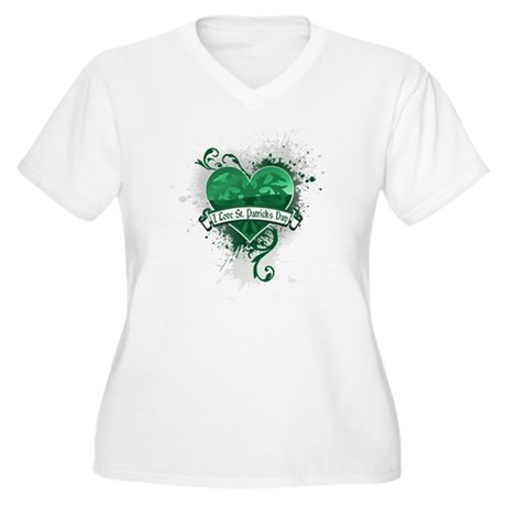 I Love St. Patrick's Day Plus Size T-Shirt