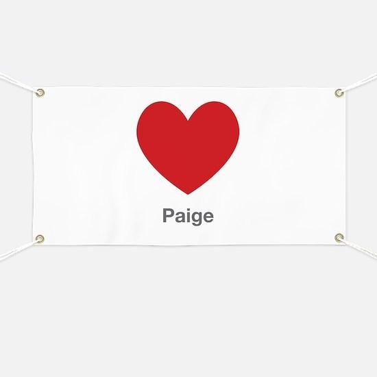 Paige Big Heart Banner