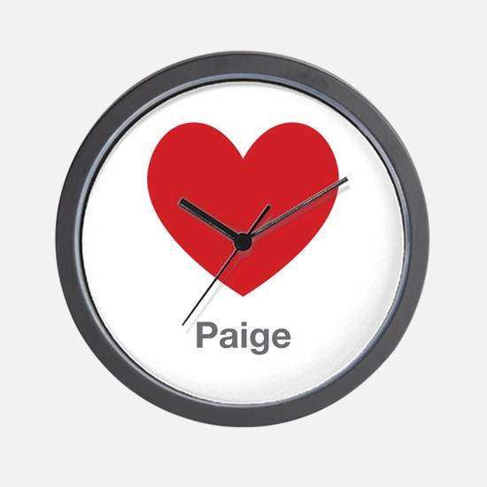 Paige Big Heart Wall Clock