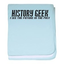 History Geek Future in Past baby blanket