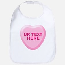 Banana Candy Heart Personalized Bib