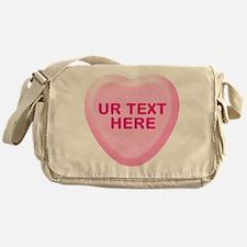 Banana Candy Heart Personalized Messenger Bag