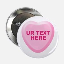 "Banana Candy Heart Personalized 2.25"" Button (10 p"
