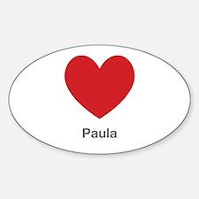 Paula Big Heart Decal