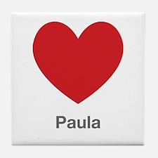 Paula Big Heart Tile Coaster