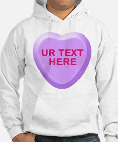 Grape Candy Heart Personalized Hoodie