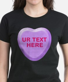 Grape Candy Heart Personalized Tee