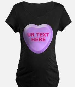Grape Candy Heart Personalized T-Shirt