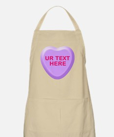 Grape Candy Heart Personalized Apron