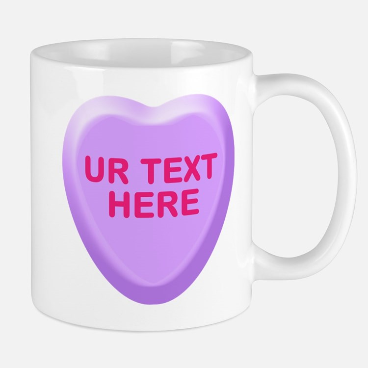 Grape Candy Heart Personalized Mug