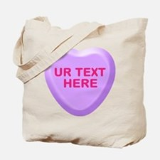 Grape Candy Heart Personalized Tote Bag