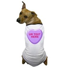 Grape Candy Heart Personalized Dog T-Shirt