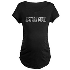 History Geek Past Future Maternity T-Shirt