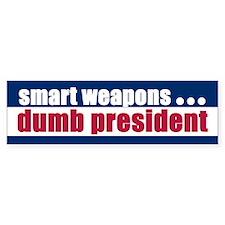 SMART WEAPONS... Bumper Bumper Sticker