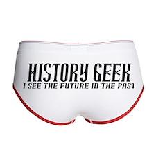 History Geek Future in Past Women's Boy Brief