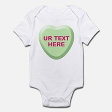 Lime Candy Heart Personalized Infant Bodysuit