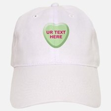 Lime Candy Heart Personalized Baseball Baseball Cap