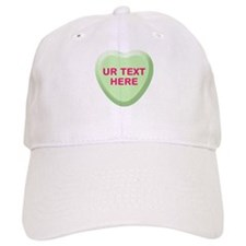 Lime Candy Heart Personalized Baseball Cap
