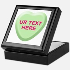 Lime Candy Heart Personalized Keepsake Box
