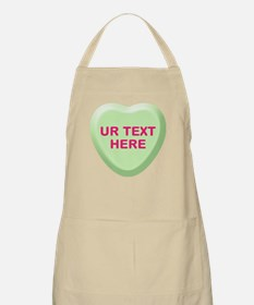 Lime Candy Heart Personalized Apron