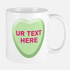 Lime Candy Heart Personalized Mug