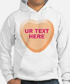 Orange Candy Heart Personalized Hoodie