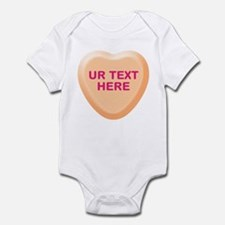Orange Candy Heart Personalized Infant Bodysuit