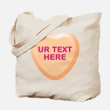 Orange Candy Heart Personalized Tote Bag