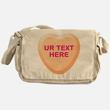 Orange Candy Heart Personalized Messenger Bag