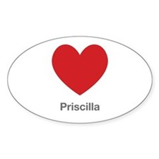 Priscilla Big Heart Decal