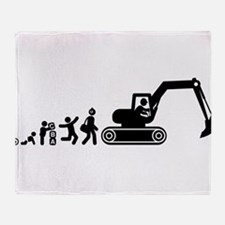 Digger Throw Blanket