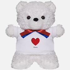 Rena Big Heart Teddy Bear