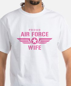 Proud Air Force Wife W [pink] Shirt