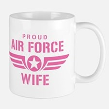 Proud Air Force Wife W [pink] Mug
