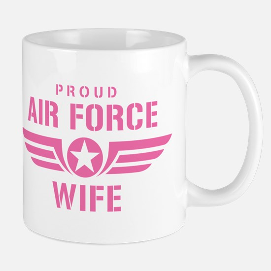 Proud Air Force Wife W [pink] Mug